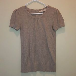 Loft Soft Sweater Knit Tee with Button Back